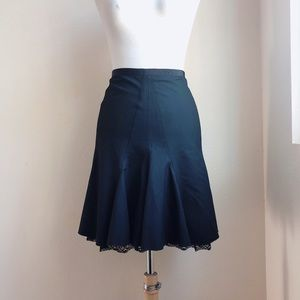 The Limited Fluted skirt with lace trim